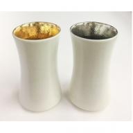 A15-9 陶悦窯・杵型ビアカップセット〈金・銀〉西富陶磁器