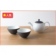 A30-3 KIHARA こだわりの茶葉ポット茶器 錆線紋