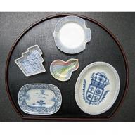 A30-45 賞美堂本店 変わった形のお皿5枚セット