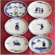 A40-27 有田焼 出番が多い楕円皿6枚セット しん窯 ギャラリーフジヤマ