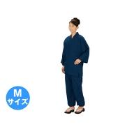 伝印 作務衣  (ドット柄 綿100%) 紺・M