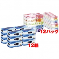エリエール ティシューキュート60箱と贅沢保湿12箱 BOXティッシュセット