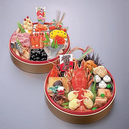 【おせち】日本料理 悠善 丸型式特別二段重「悠」―haruka― ※クレジット限定
