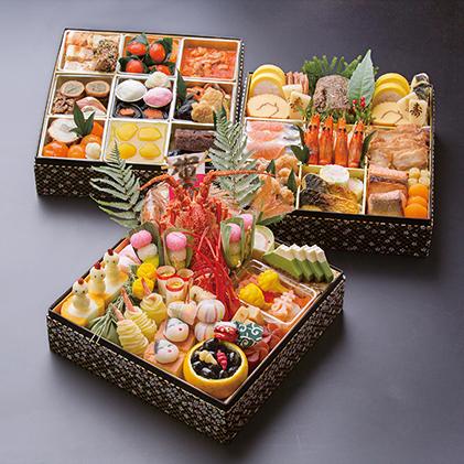 【おせち】日本料理 悠善 「和三段重」 心の化粧箱 ※クレジット限定