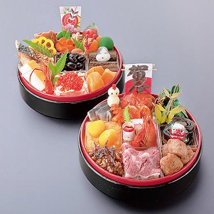 【おせち】日本料理 悠善 丸型式特別二段重「雅」―miyabi― ※クレジット限定