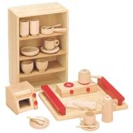 木製知育玩具 抗菌ままごとあそびトレイセット 8013