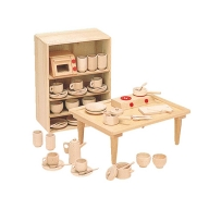 木製知育玩具 抗菌ままごとあそびテーブルセット8011