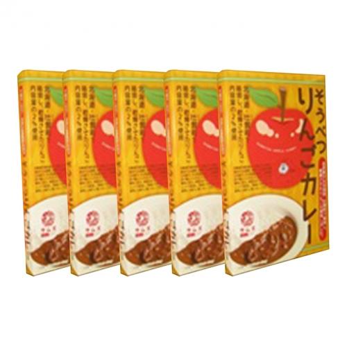 ≪ご当地レトルトカレー≫そうべつりんごカレー5箱