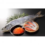 熟成山漬鮭姿切身と醤油漬けいくら