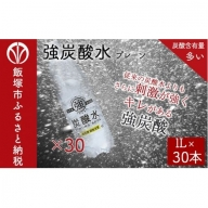 【A-305】友桝飲料 強炭酸水 1L × 30本 セット(プレーン)