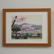 I-148-4 藤岡牧夫複製作品 「桜の駅」(小)