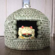 K8001 七島藺の猫ちぐら