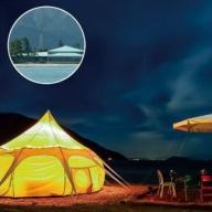 【T-913】マキノグランドパークホテル 湖畔のグランピング アウトドアディナー&モーニング 4名様ご宿泊