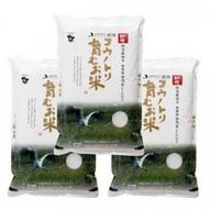 コウノトリ育むお米無農薬【5kg×3袋】(94-002)