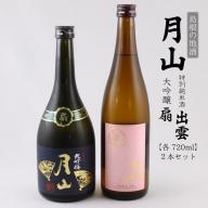 19-YF-9吉田酒造 月山 大吟醸-扇-&特別純米酒「出雲」2本セット