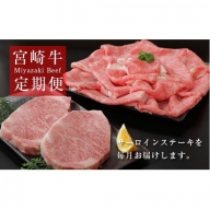 【定期便:全12回】宮崎牛サーロインステーキコース<倉薗牧場> 31-SBF29