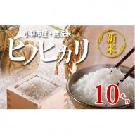 【新米たっぷり!無洗米】小林産ヒノヒカリ10㎏ 30-S3018