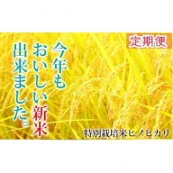 【定期便】【30年産新米!】山麓の特別栽培米ヒノヒカリ(96㎏) 30-0027