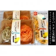 04-MK-3 まるでパスタな米粉麺 フェットチーネ&フィジリセット