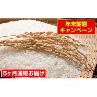 【5ヶ月連続お届け】郷の有機使用特別栽培米 ひとめぼれ 12kg