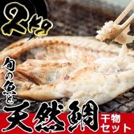 No.317 日置市の天然の鯛や地魚!タイの干物と旬の魚の干物セット(5尾・約2.0kg)【吹上町漁協】