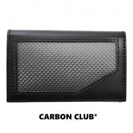 [P041] 炭素繊維織物 カードケース 黒×タン
