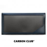 [P043] 炭素繊維織物 長財布 紺×タン