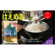 N1202 鈴木農園のうまい米「はえぬき」30kg