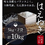 011-D01 【はえぬき】H30年産米 「はえぬき」 10kg