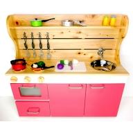 ままごとキッチンw870 ピンク