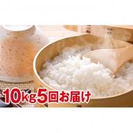 北海道赤平産きたくりん特別栽培米10kg×5回お届け