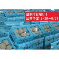 盆明 津軽産 青肉メロンご家庭用約5kg4~6玉