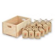 029. 使い切りサイズが嬉しい 木箱の山間米合袋セット