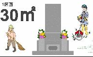 【申込前、要連絡】お墓のお掃除サービス 約30平方メートル