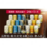 【5ヶ月定期便】飲み比べセット24缶THE軽井沢ビール