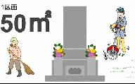 【申込前、要連絡】お墓のお掃除サービス 約50平方メートル