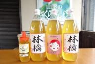 ふじリンゴジュース1L×3本ハチミツ300g×1セット