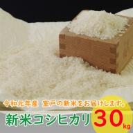 TA002室戸産新米コシヒカリ30kg