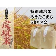 【炭譲米 あきたこまち】30年産 白米 5kg×2袋(合計:10kg)