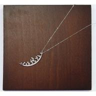 プラチナ950ダイヤモンド三日月モチーフペンダント0.31ct/45cm(12331100151)