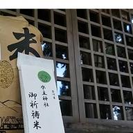 【令和元年新米予約(精米10kg)】エコファーマーが栽培した特別栽培米 水主米(みずしまい)【水主神社のご祈祷米付き】