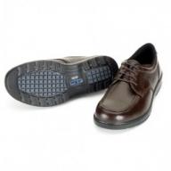 O-002 青木安全靴 A-Bee01【ゆったり幅広設計糖尿病足対応靴】ブラウン