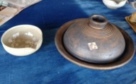 浅土鍋と片口セット むるぶし工房[A0262]