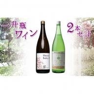 一升瓶ワイン2本セット 山梨ワイン