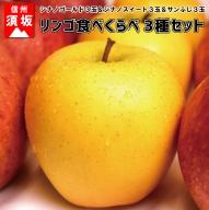 【信州須坂のりんご】食べくらべ三種セット大玉9玉入り
