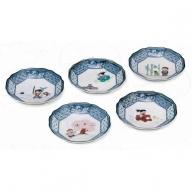 035002. 【九谷焼のある食卓】皿揃(4.2号)・日本むかし話