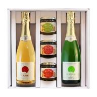 スパークリングワイン(白/シードル)&フルーツジャムセット