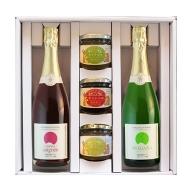 スパークリングワイン(白/ロゼ)&フルーツジャムセット