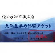 27-08 天然藍染め体験チケット