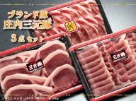 【109-018】ブランド豚「庄内三元豚」3点セット(計1.5kg)
